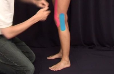 Knie Tapen Außenband