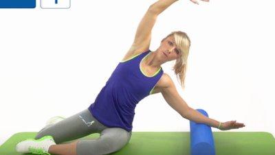 Meerjungfrau Schritt 1 auf Gymnastikmatte