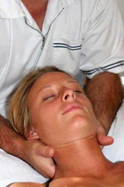 Schmerzhafte Nackenverspannung