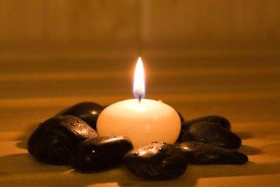 Kerze aus Paraffin