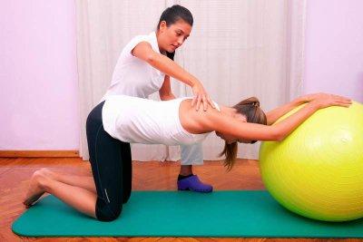 Physiotherapie am Ball