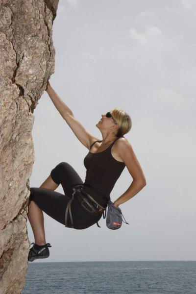 Klettern am Meer gegen negativen Stress