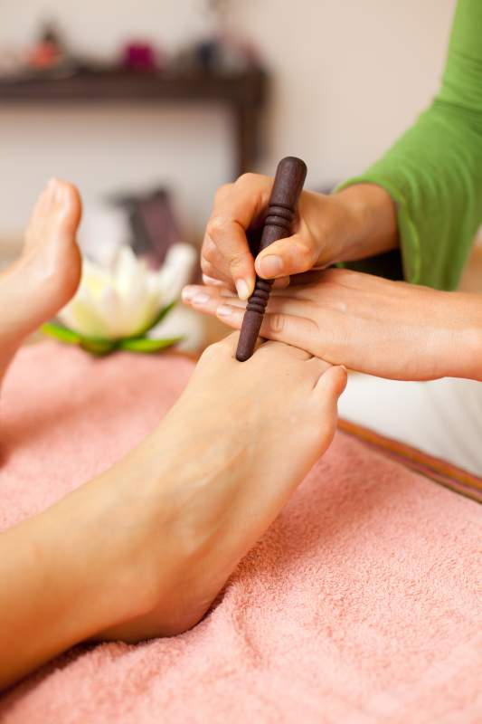 Punktuelle Massage