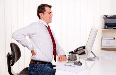 Nackenverspannung im Büro