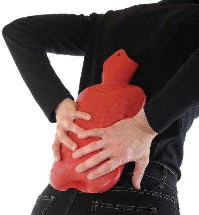 Wärmeflasche bei Rückenschmerzen